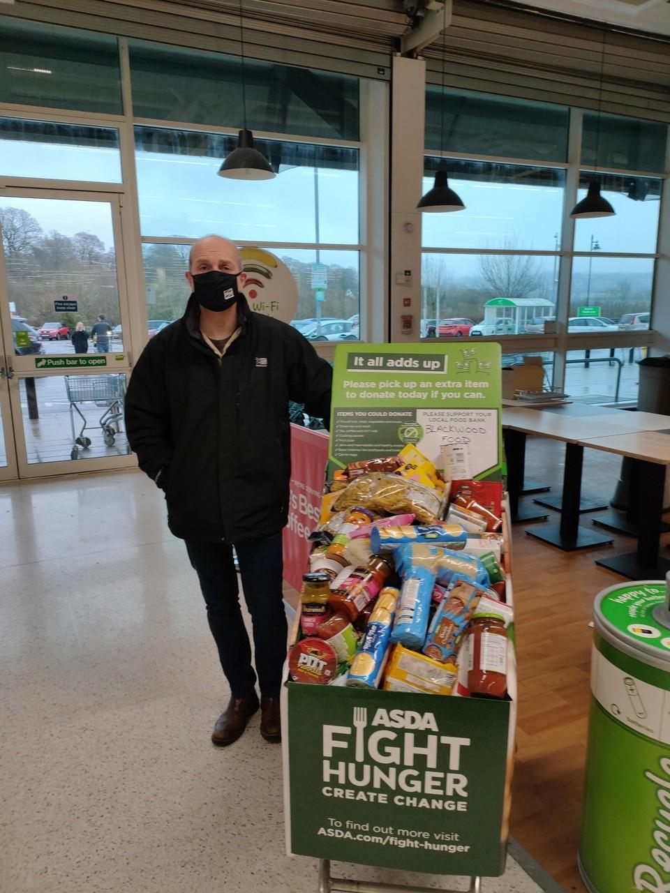 Food bank donation from Asda Blackwood | Asda Blackwood