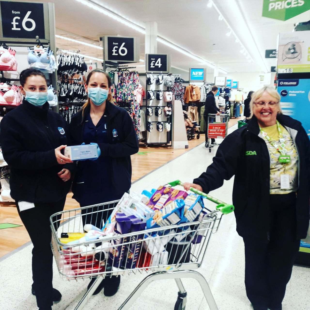 Donation of masks and treats | Asda Thornaby