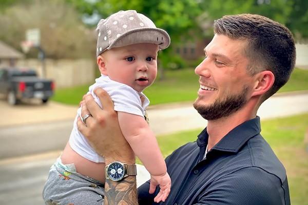 Jake Webb with his son Jensen