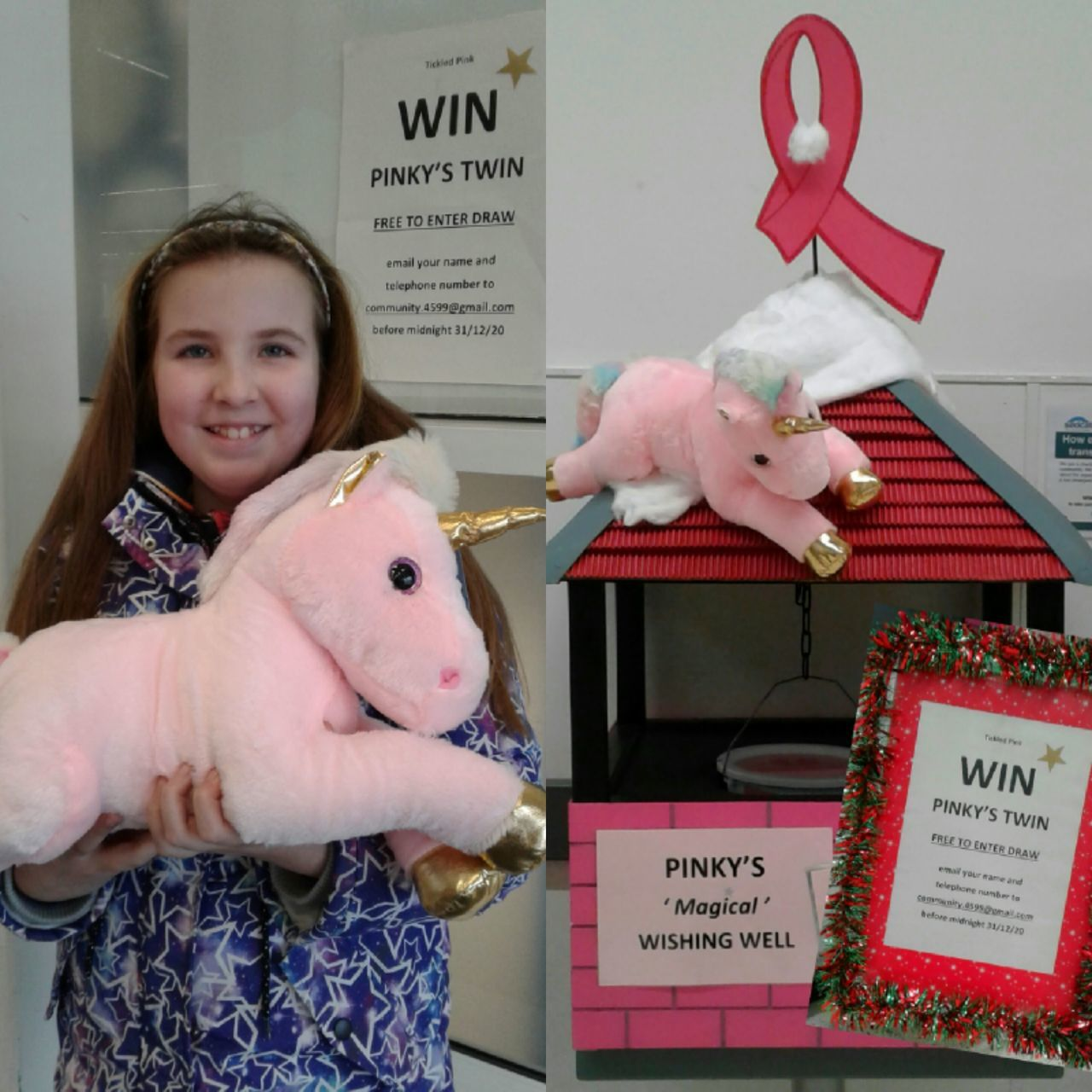 Pinky's Twin customer draw for Tickled Pink | Asda Castlepoint