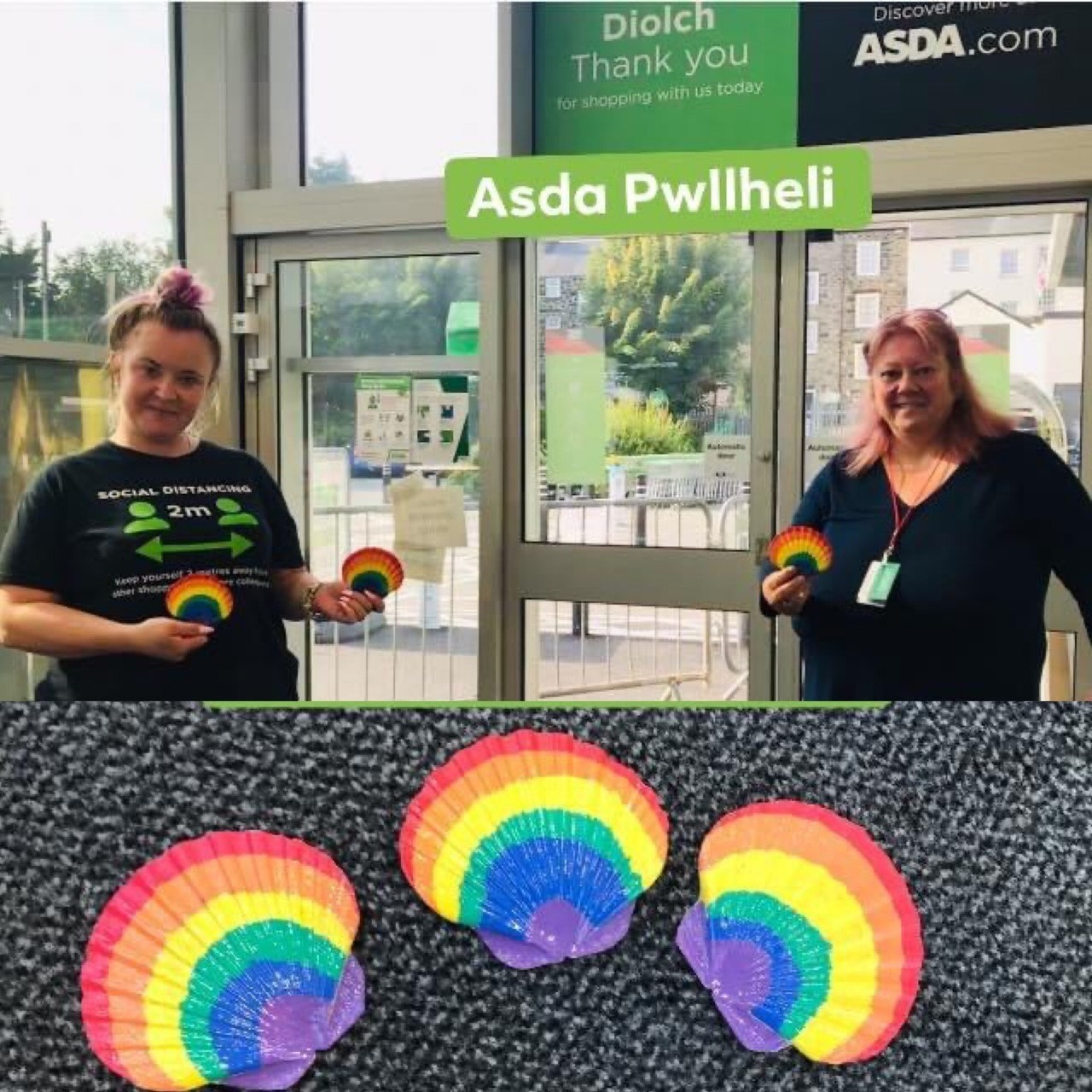Lovely gesture during NHS priority shopping hour | Asda Pwllheli