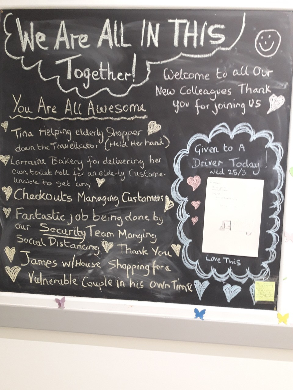 Bournemouth's positive board | Asda Bournemouth
