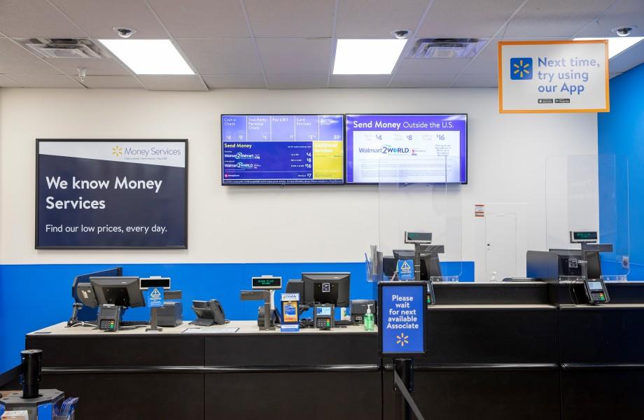 Walmart Money Services In-Store Area