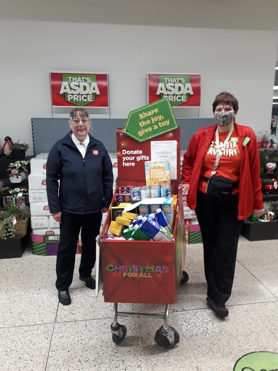 Donation to Salvation Army | Asda Golborne