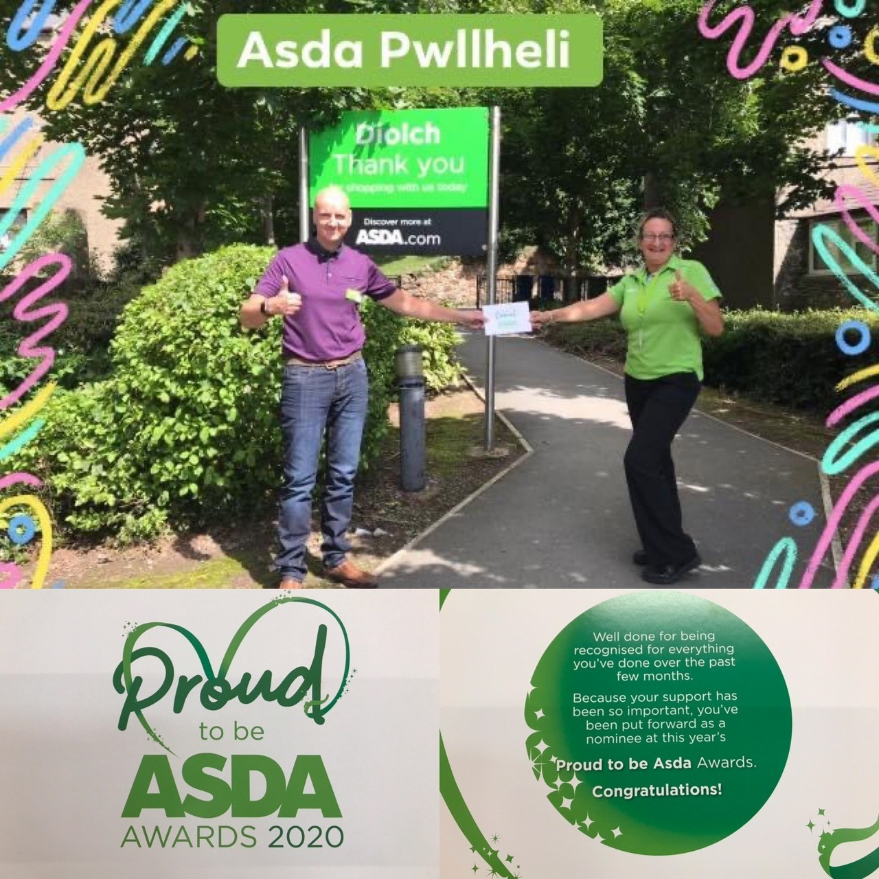 Proud to be Asda Awards | Asda Pwllheli