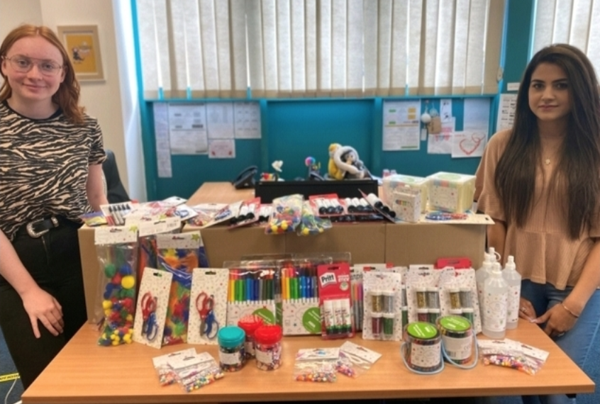 Crafty donations to NIDAS  | Asda Sutton in Ashfield