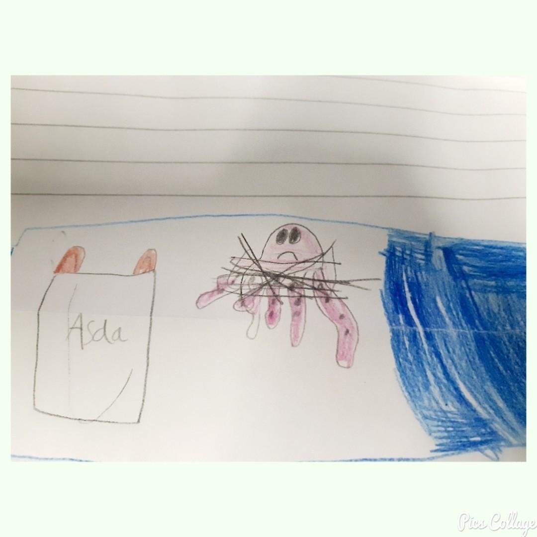 School letters on plastic waste | Asda Highbridge