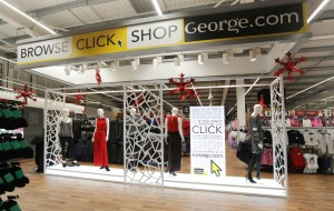 Mannequins are wearing George clothing