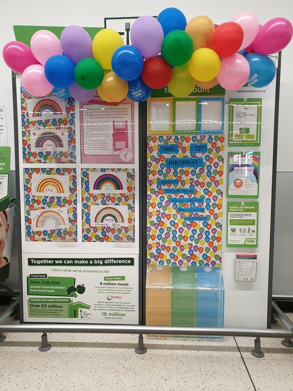 NHS 72nd Birthday Greetings | Asda Hereford