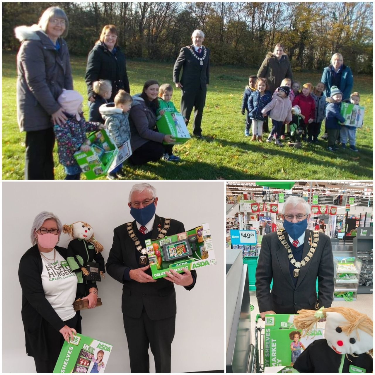 Helping hand for the mayor ! | Asda Donnington Wood