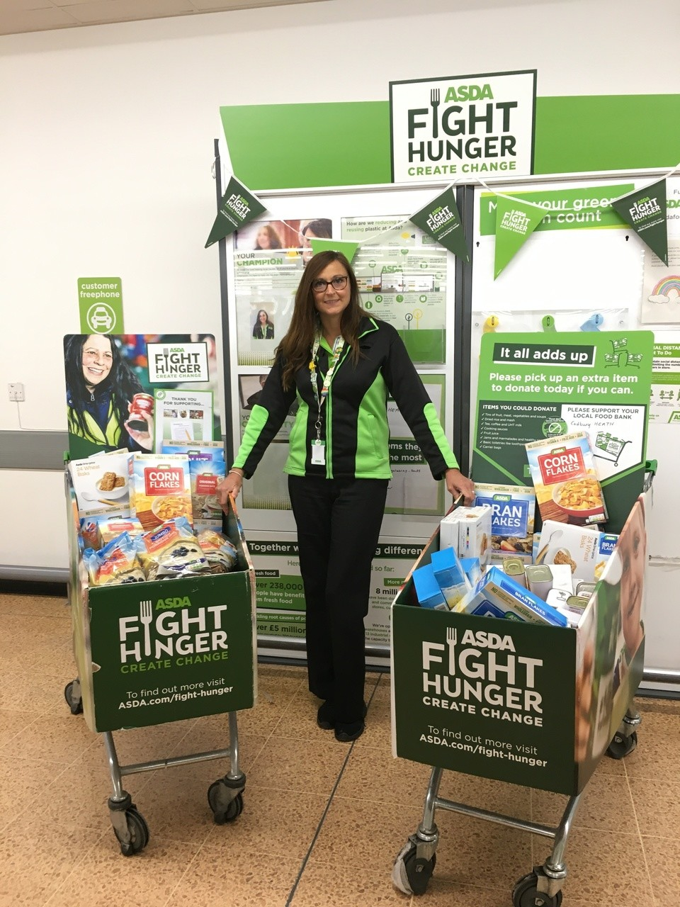 Fight Hunger Create Change support | Asda Longwell Green
