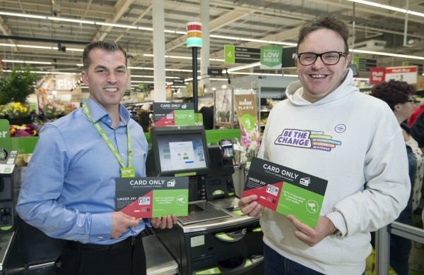 Disability campaigner David officially opens new user-friendly checkouts at Asda Grangemouth