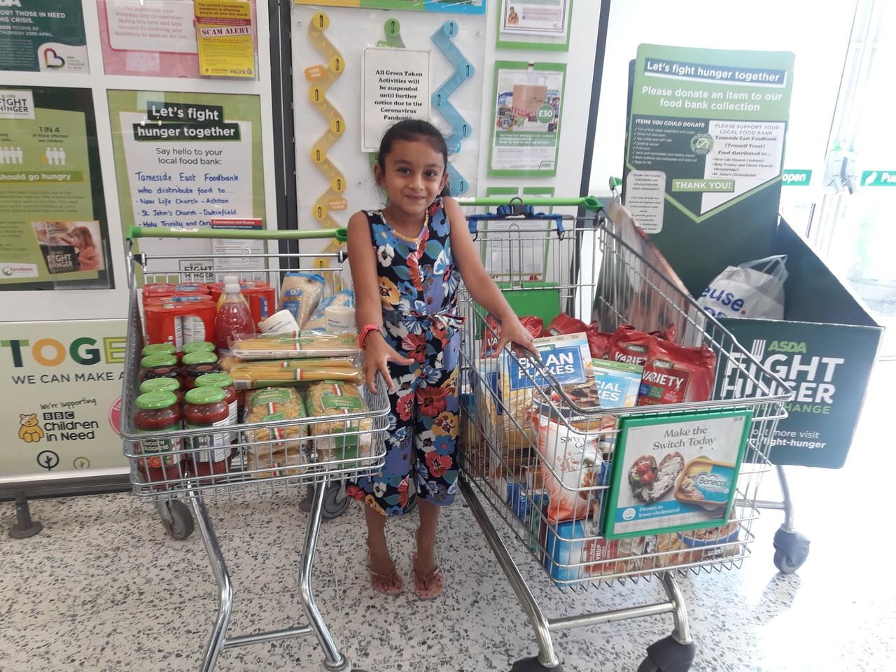 Kind hearted Naya helps food bank | Asda Ashton