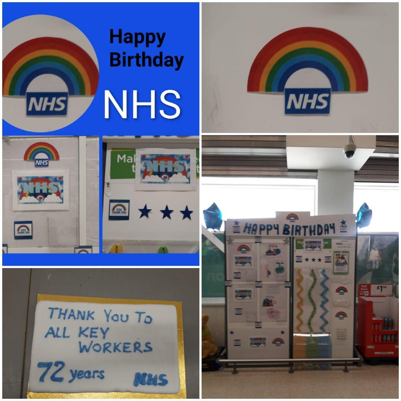 Happy 72nd birthday NHS from ASDA Hartlepool. | Asda Hartlepool