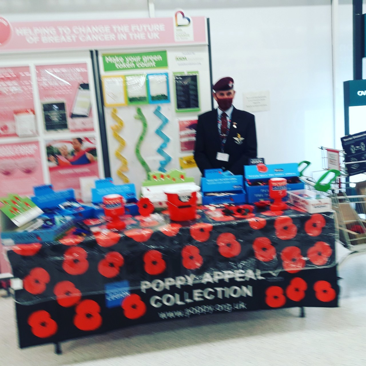 Socially-distanced Poppy Appeal with the paras | Asda Thornaby