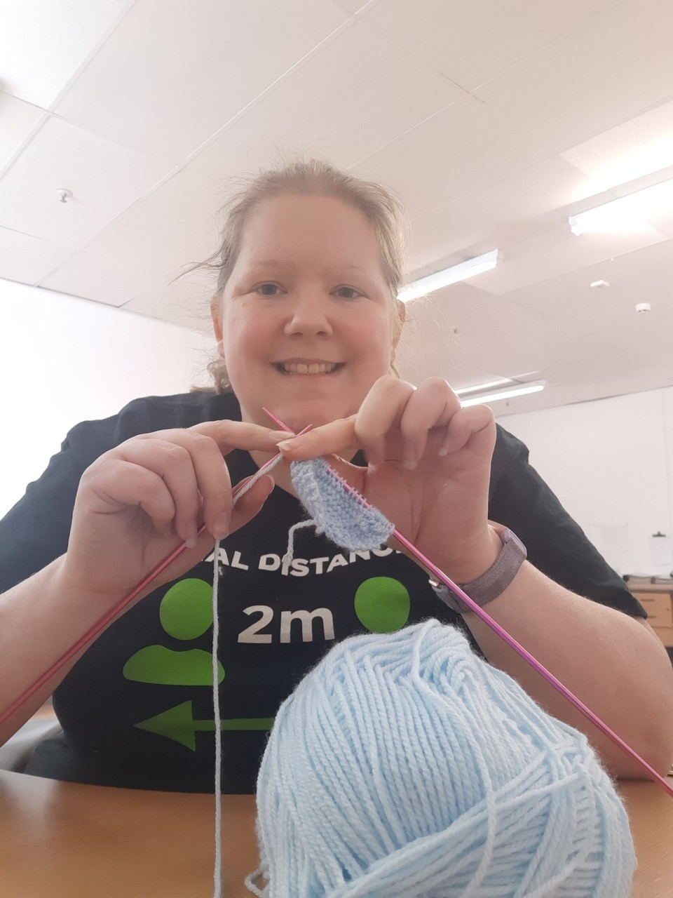 Knitting hearts for Covid-19 patients | Asda Portlethen