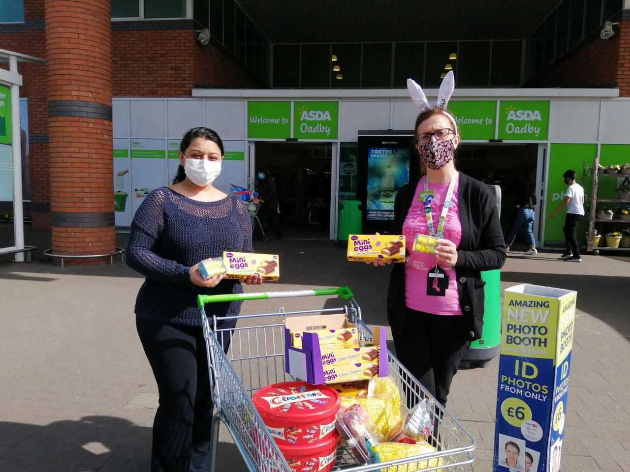 Easter treat donation for local care home   Asda Oadby