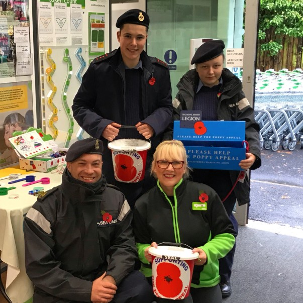 Poppy Appeal at Asda Pwllheli