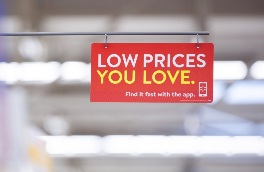 Low prices you love sign