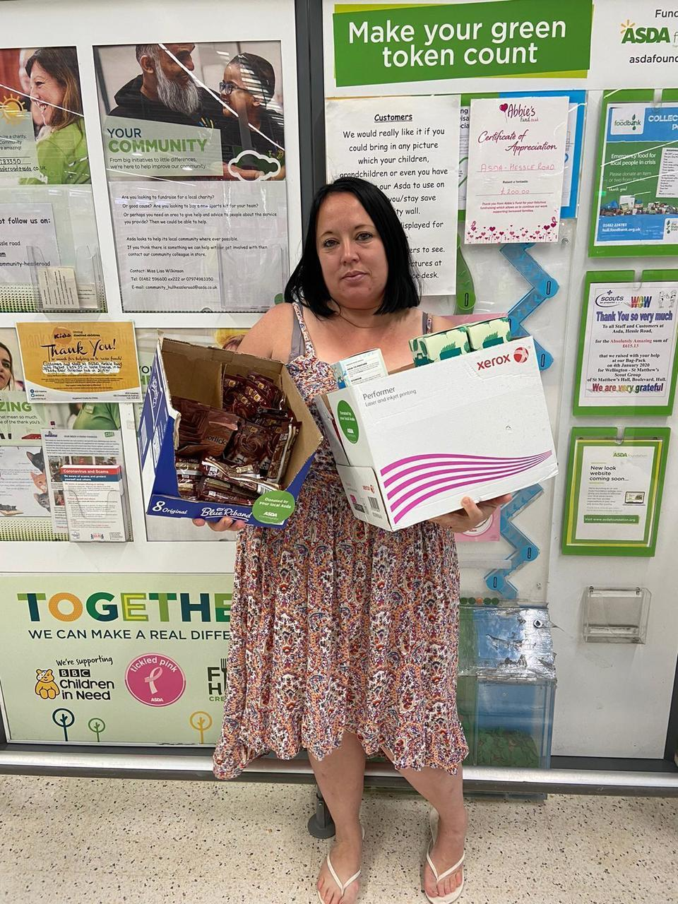 Donation to Aim Higher | Asda Hessle