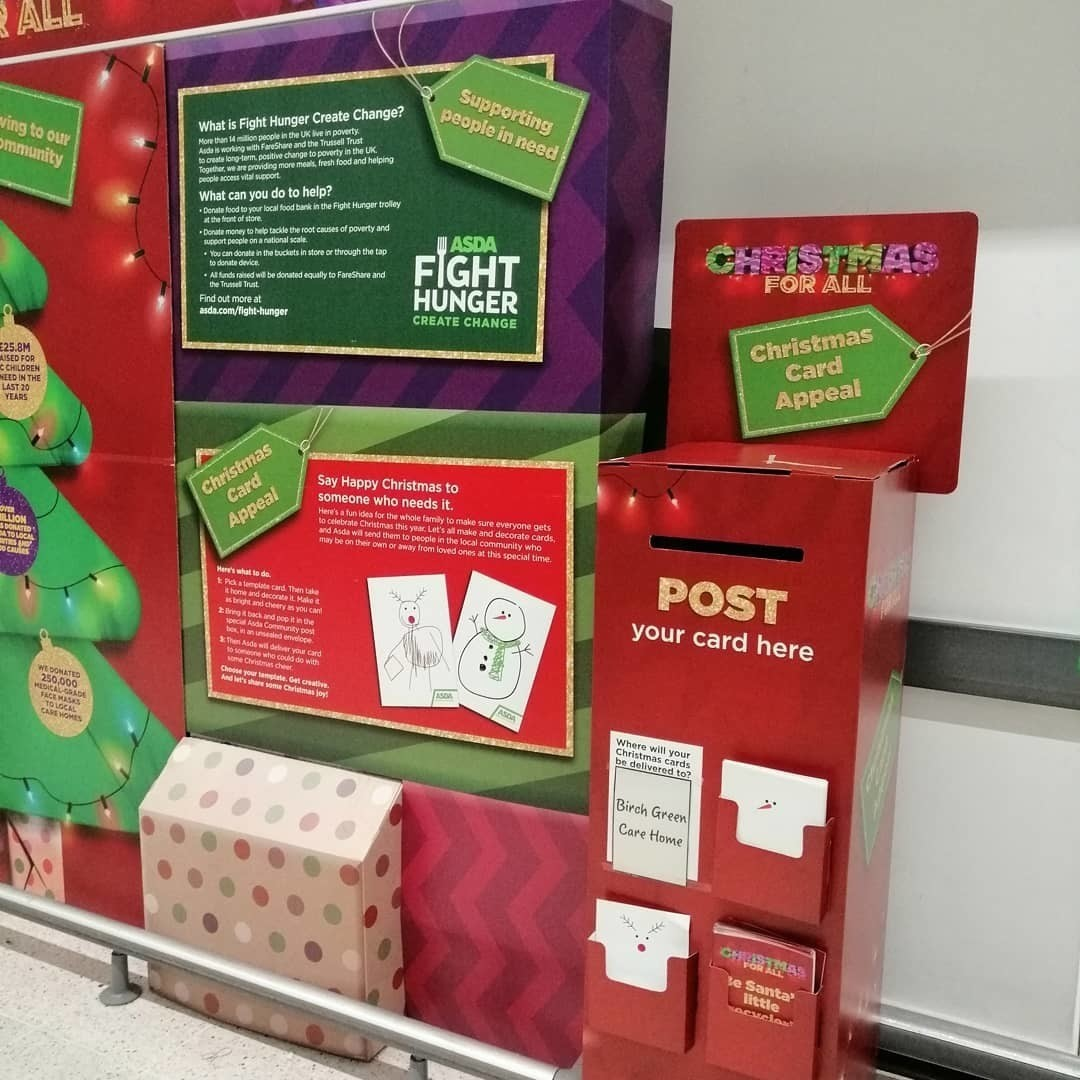 Christmas card postbox | Asda Skelmersdale