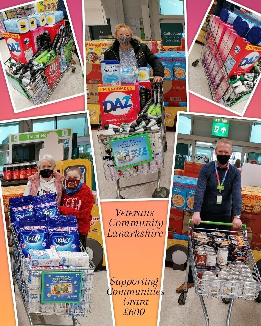 Grant for veterans charity | Asda Motherwell