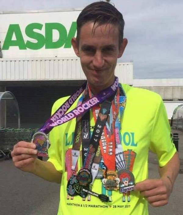 Asda St Leonards-on-Sea colleague and marathon runner Phil Scott