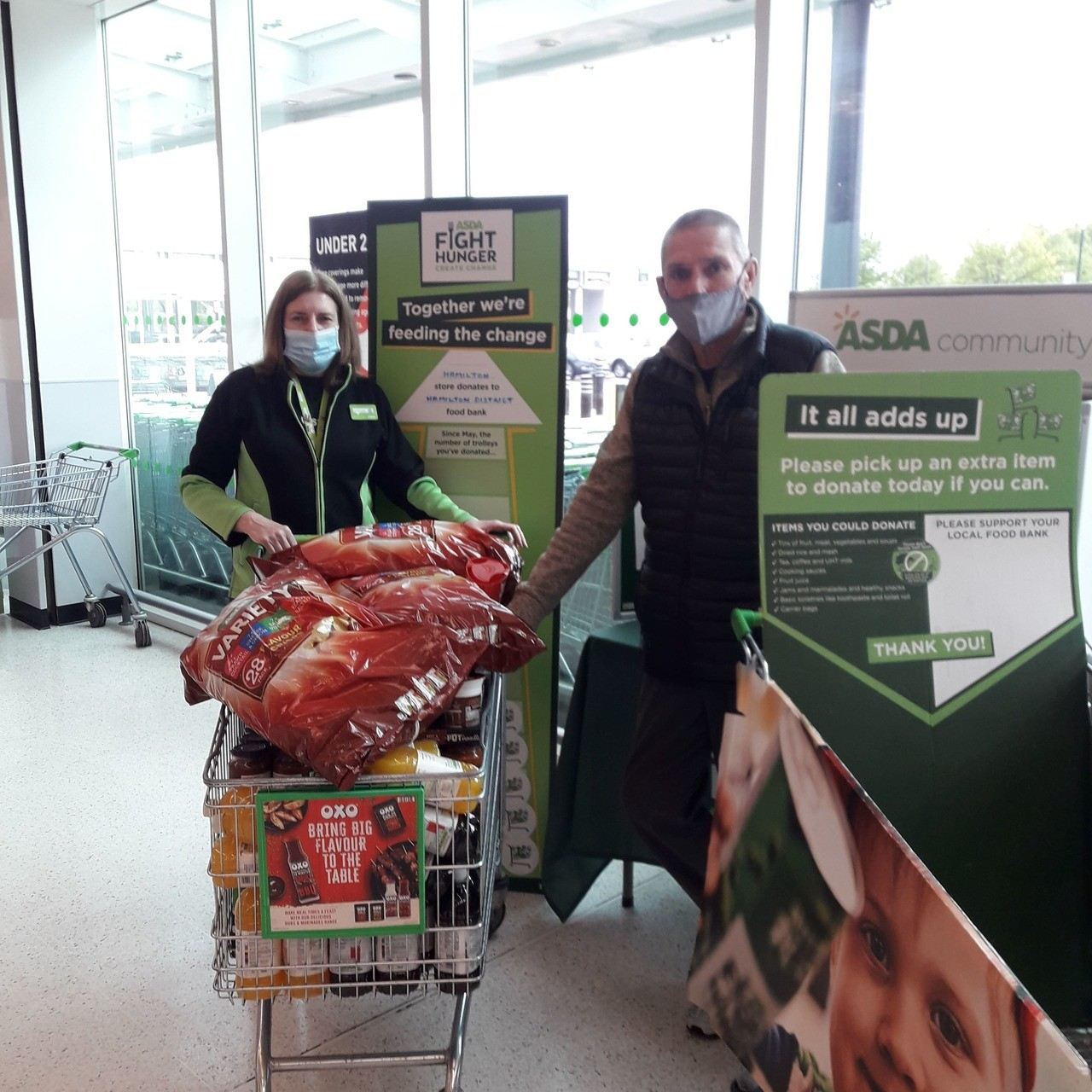 Supporting Hamilton District Foodbank | Asda Hamilton