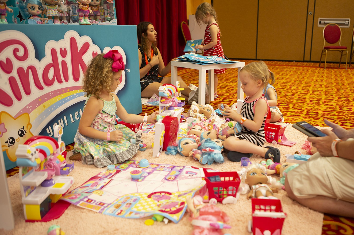 Kids play with toys at Top Rated by Kids event 2019