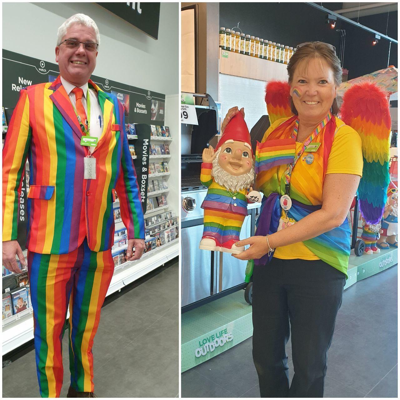 Rainbow support | Asda Newport Isle of Wight