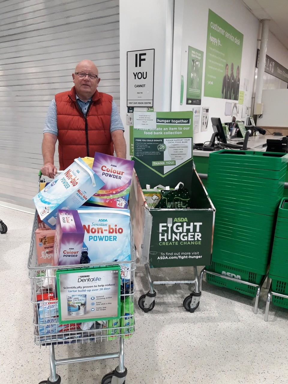 Sherwood Forest food bank donation | Asda Mansfield