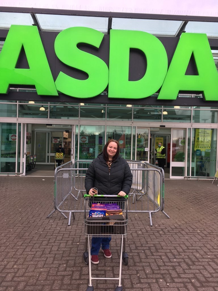 Sarah Hunter from Dyce School Parent Council collected eggs for their Easter Egg Hunt. | Asda Dyce