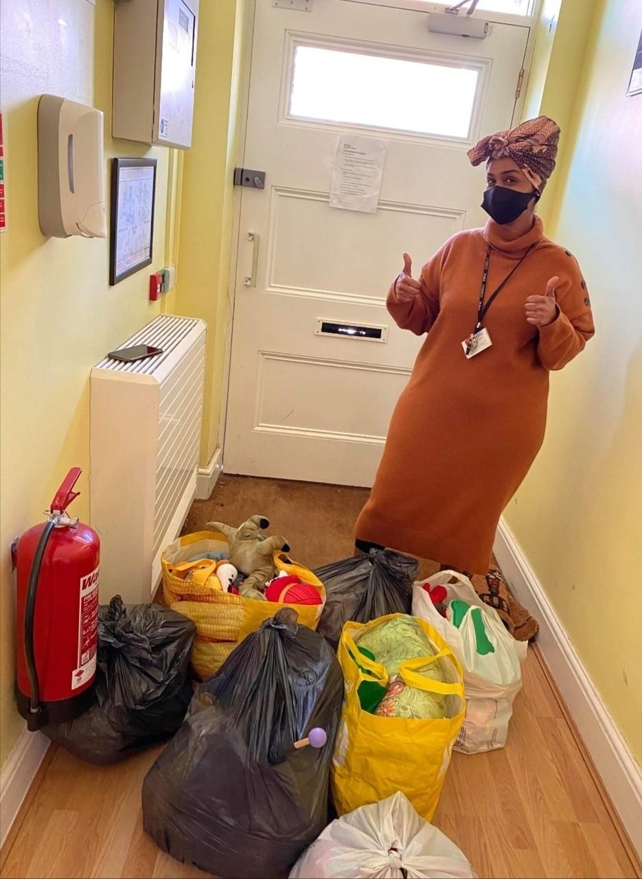 Women's refuge donation | Asda Newport Pillgwenlly