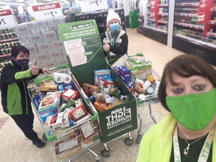 Generous customers support foodbank | Asda Cramlington