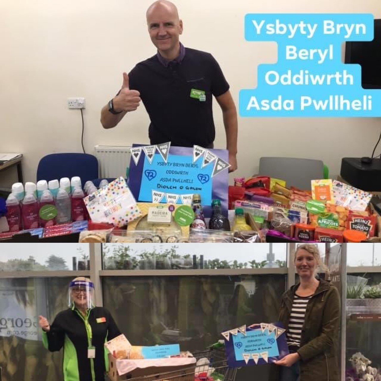 Hampers for the hospital | Asda Pwllheli