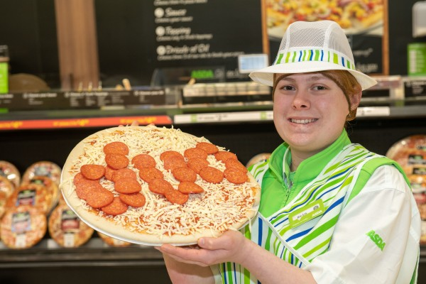 Asda Chesser pizza counter colleague Erin Gordon