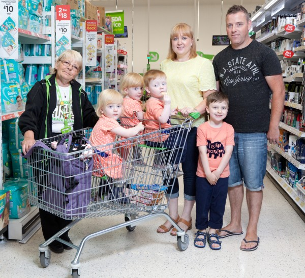Asda Hereford triplet trolley