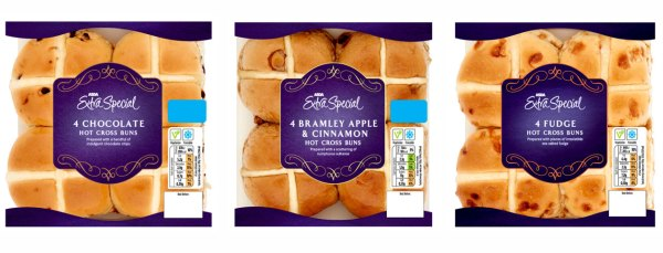Extra Special flavoured hot cross buns
