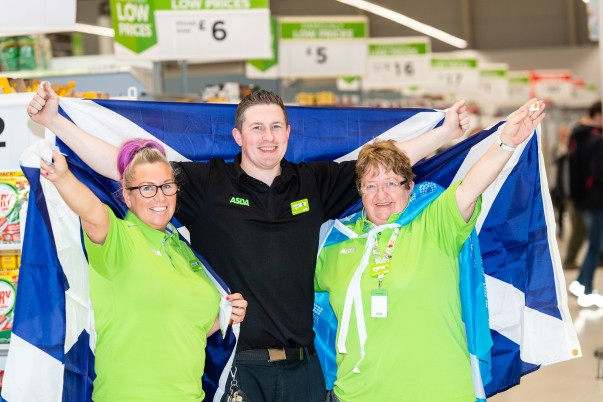 Colleagues at Asda Govan are supporting Scotland at the Women's World Cup