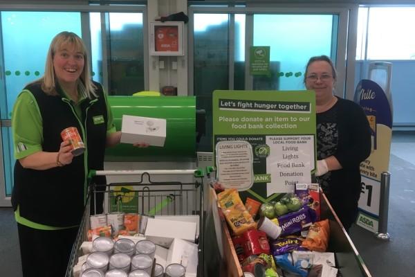 Asda Keighley supporting local food bank. | Asda Keighley