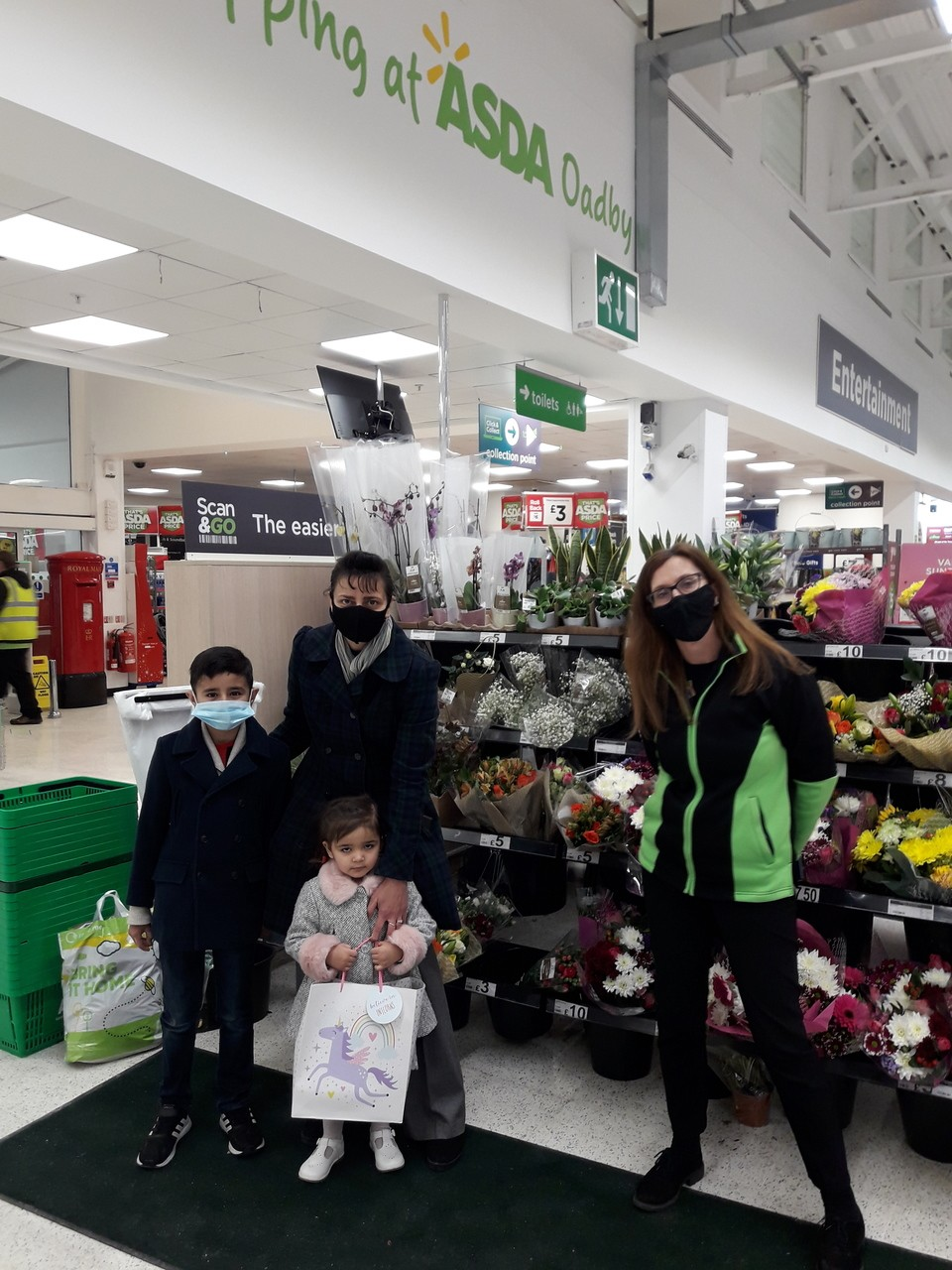 Crafty gifts from Asda Oadby to thank 2-year-old fundraiser Jemima | Asda Oadby
