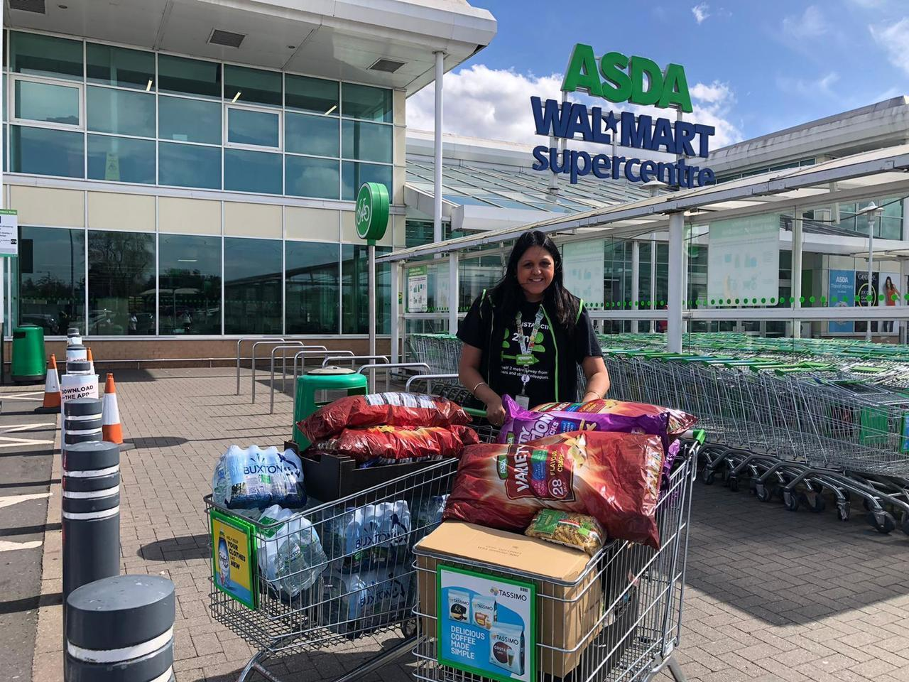 Donations, donation, donations | Asda Great Bridge