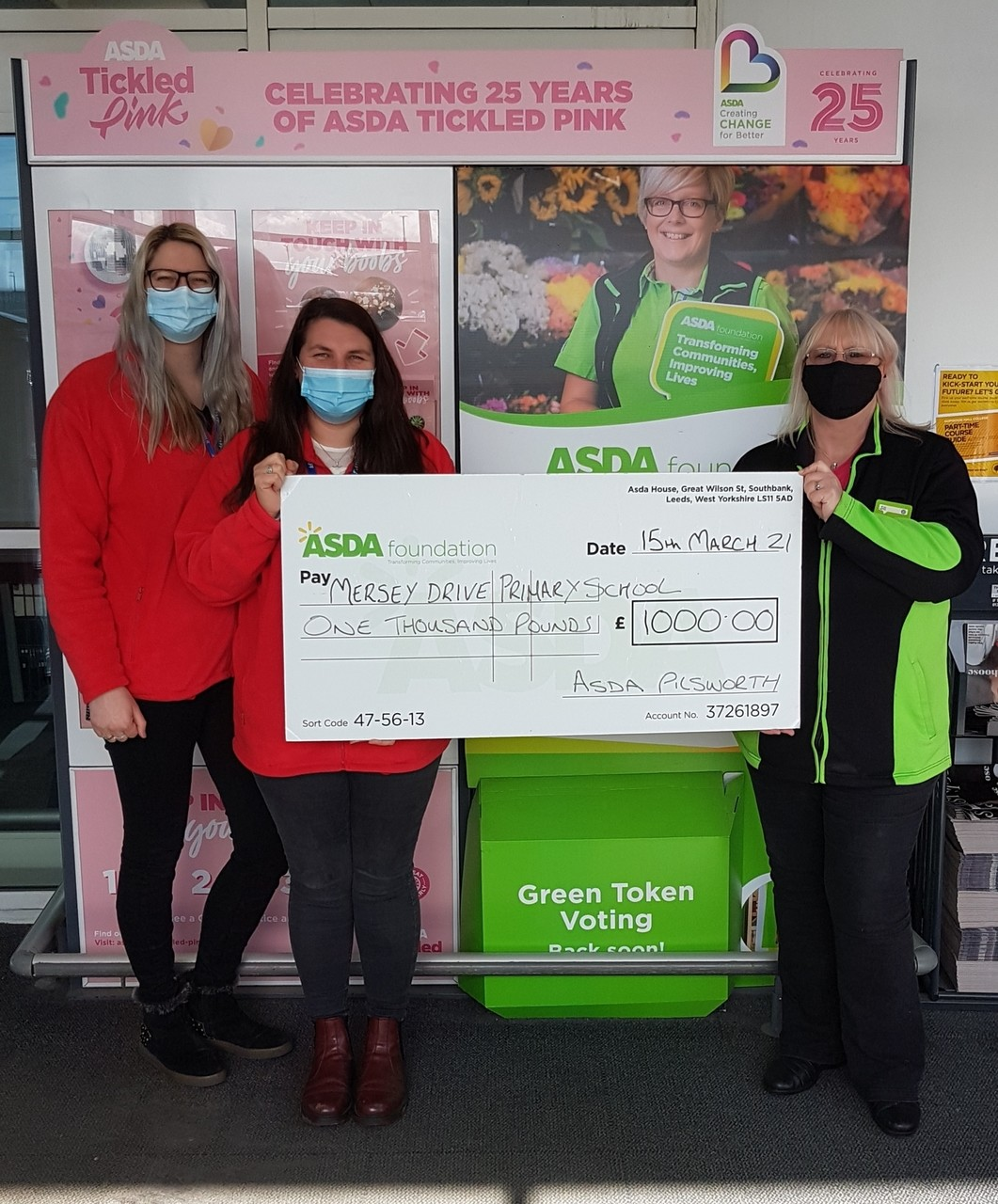 £1,000 grant to school | Asda Pilsworth