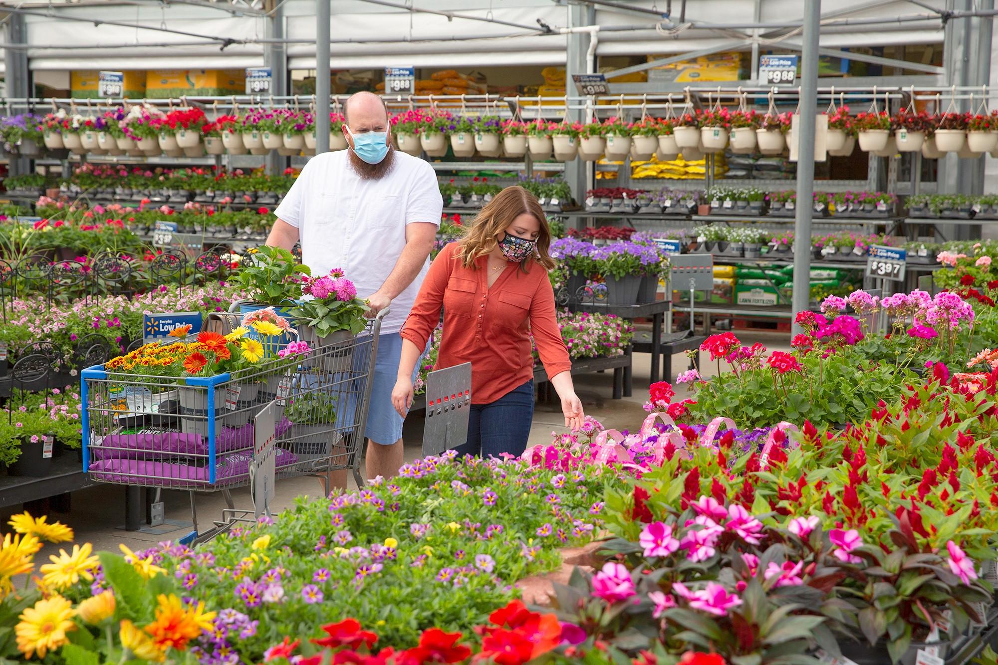 Customers Shopping in Garden Center
