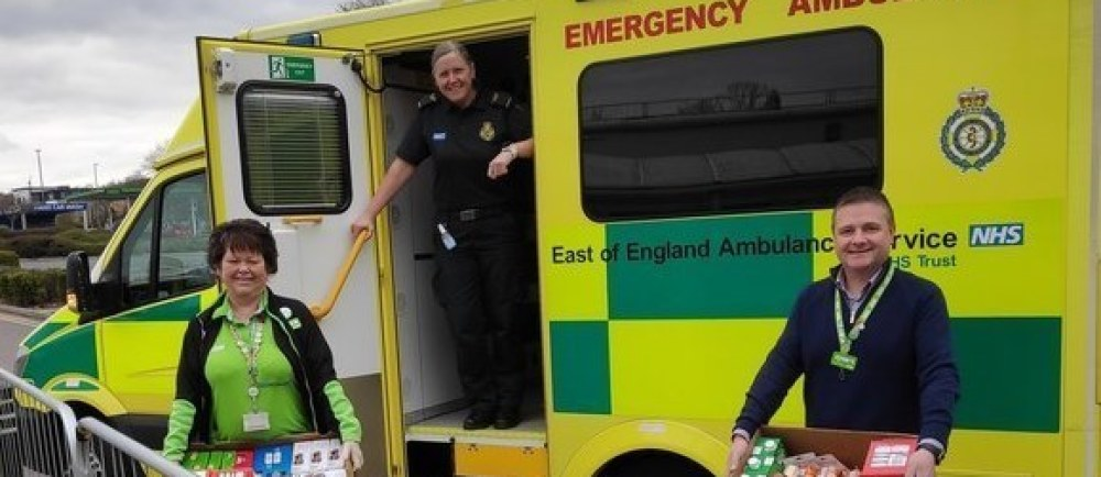 Treats for ambulance workers | Asda Watford
