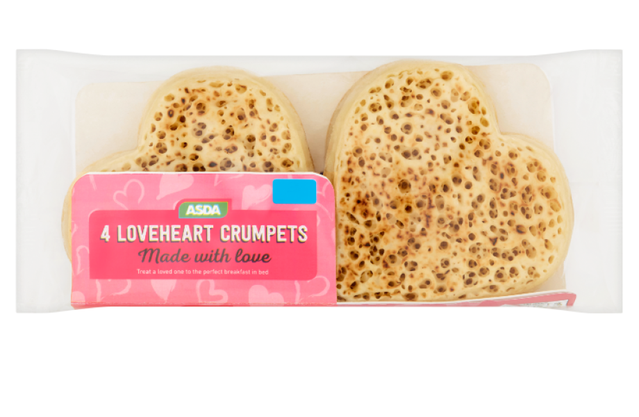 Loveheart Crumpets