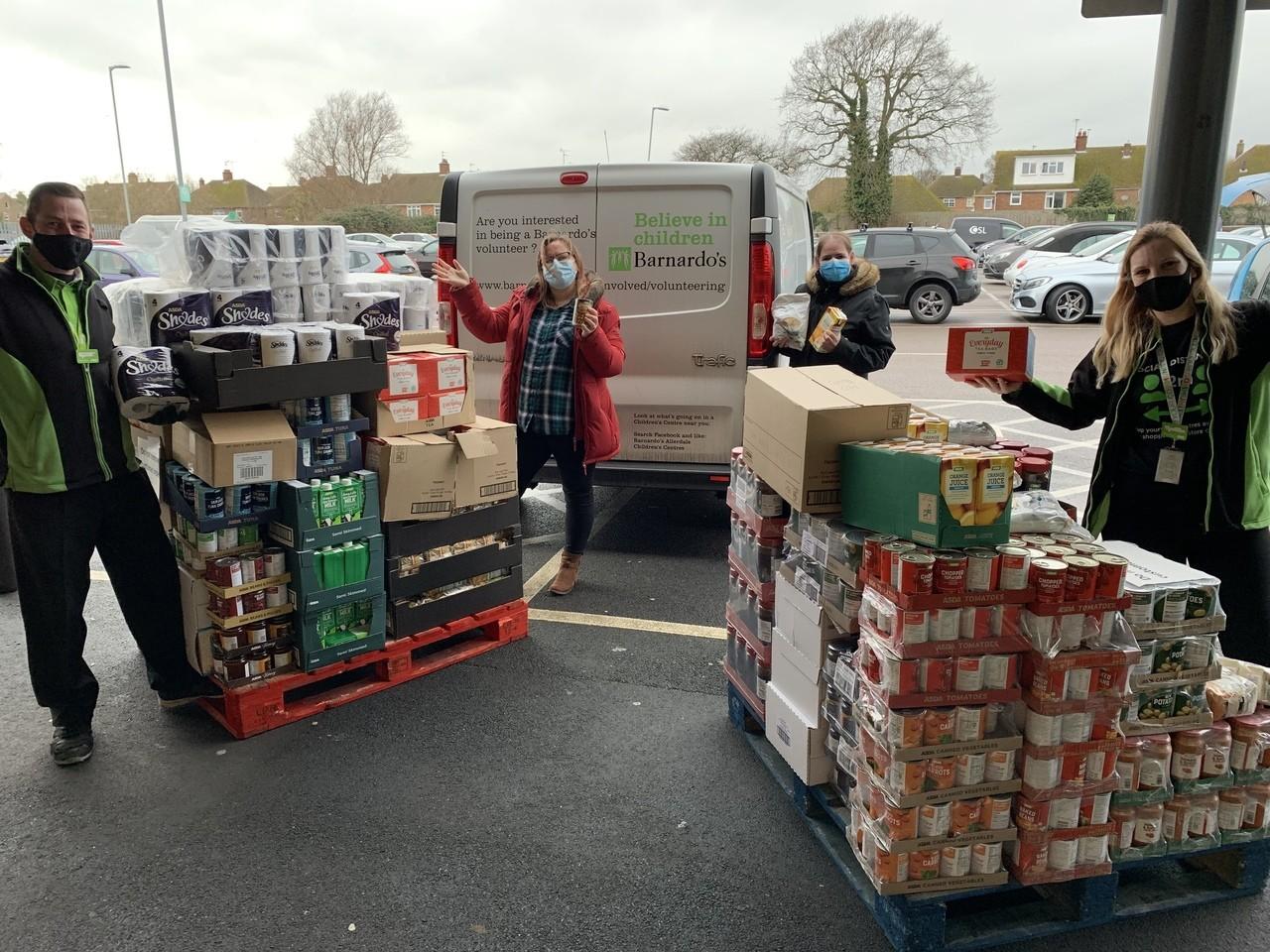 Barnardos donation | Asda Clacton-on-Sea