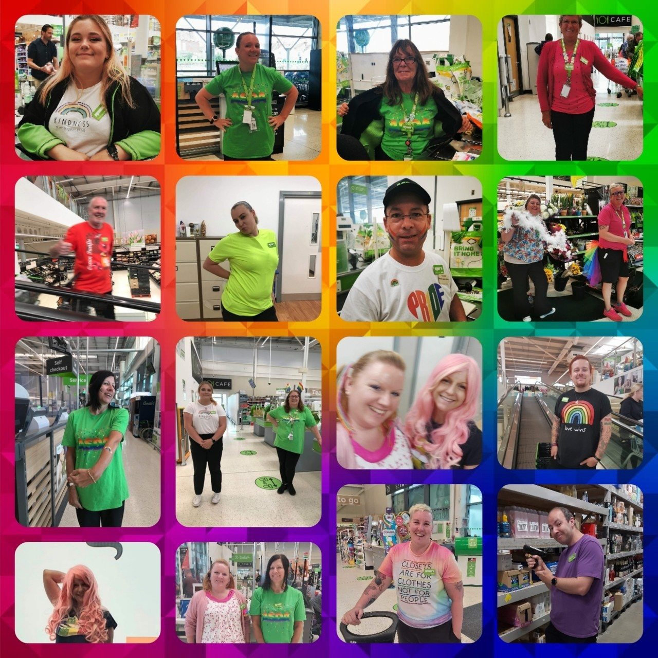 All dressed up for Pride weekend  | Asda St Leonards on Sea