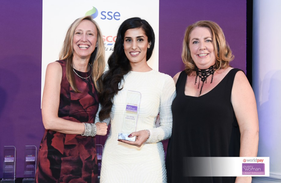 Rukia Hussain accepts award to become everywoman in retail ambassador