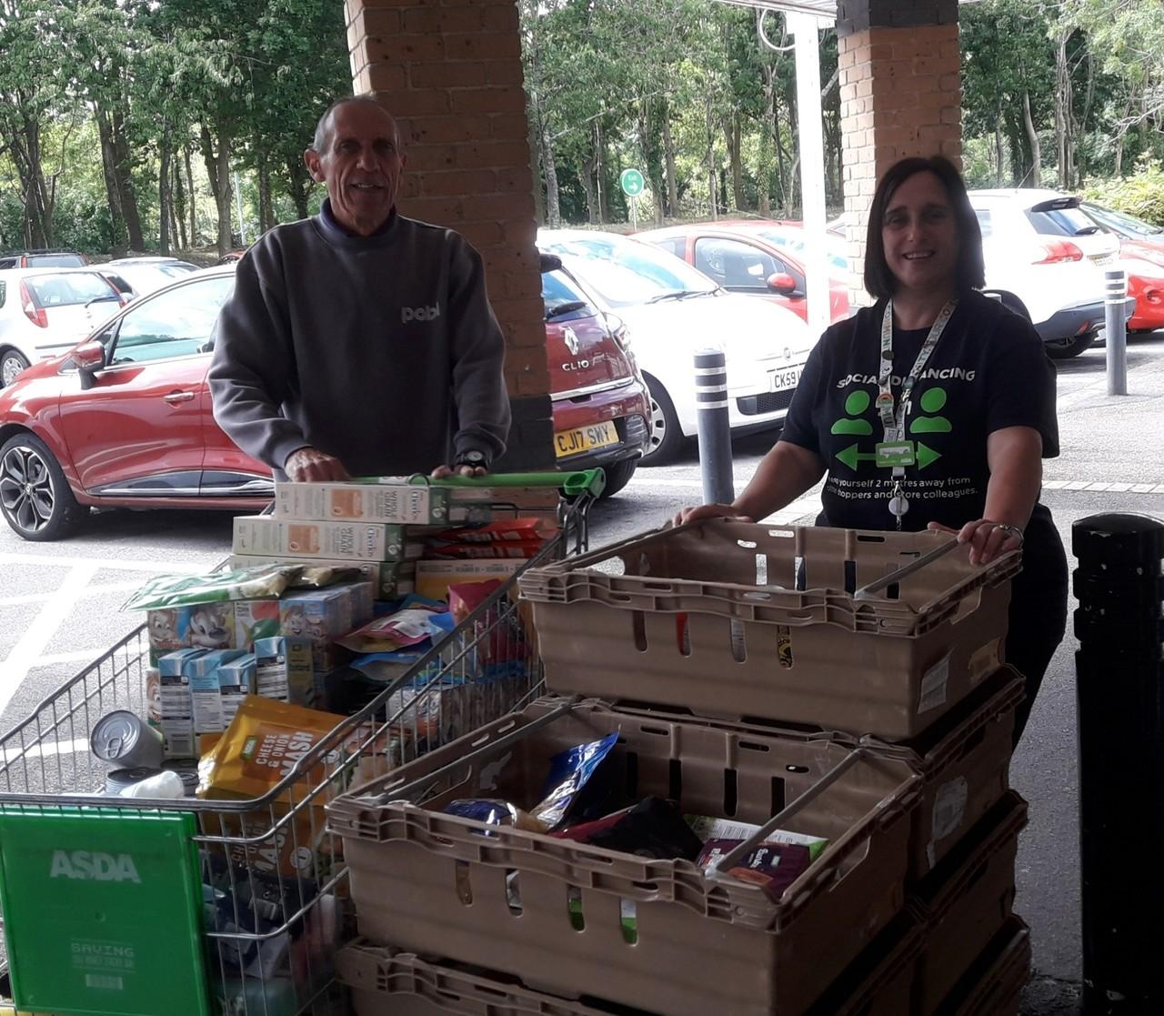 Donation to Newport Foodbank | Asda Newport